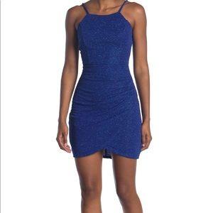 Sparkly knit crepe mini dress